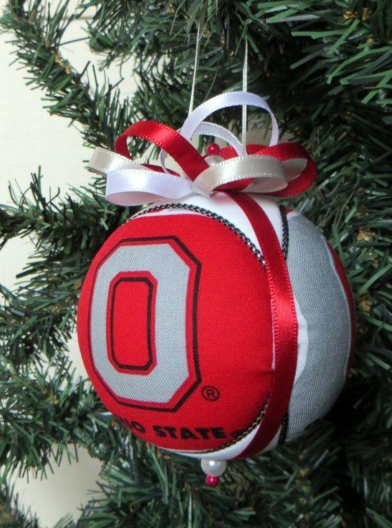osu buckeye homemade christmas ornaments   Ohio State Buckeyes Christmas  Ornament by OrnamentDesigns on Etsy - Osu Buckeye Homemade Christmas Ornaments Ohio State Buckeyes