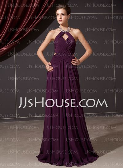 Evening Dresses - $128.99 - A-Line/Princess Halter Floor-Length Chiffon Evening Dress With Ruffle Beading (017014244) http://jjshouse.com/A-Line-Princess-Halter-Floor-Length-Chiffon-Evening-Dress-With-Ruffle-Beading-017014244-g14244