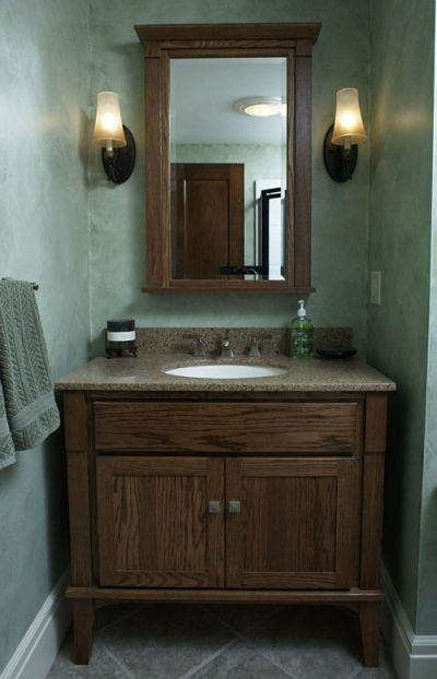 Vanities For Half Bath half bath with furniture-style vanitymcclurg remodeling