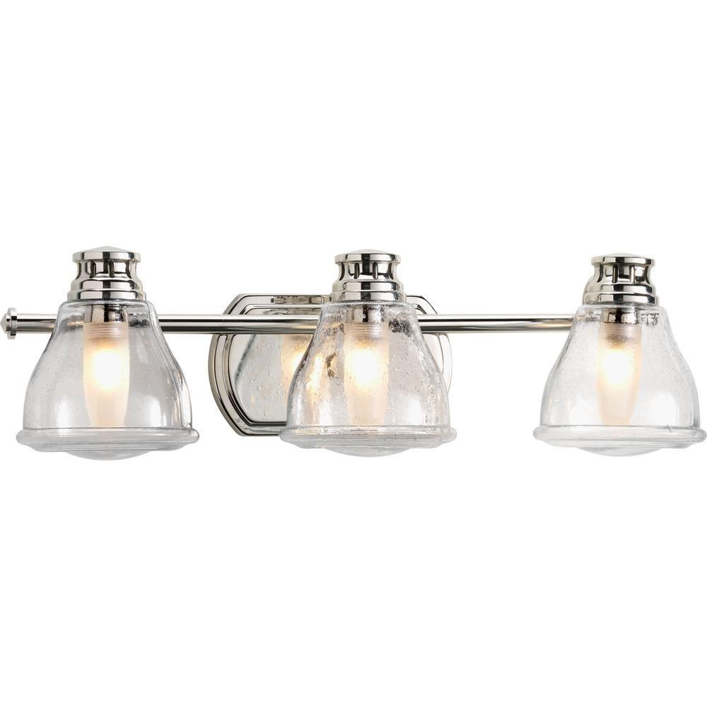Progress Lighting Academy Collection 3 Light Polished Chrome Bath