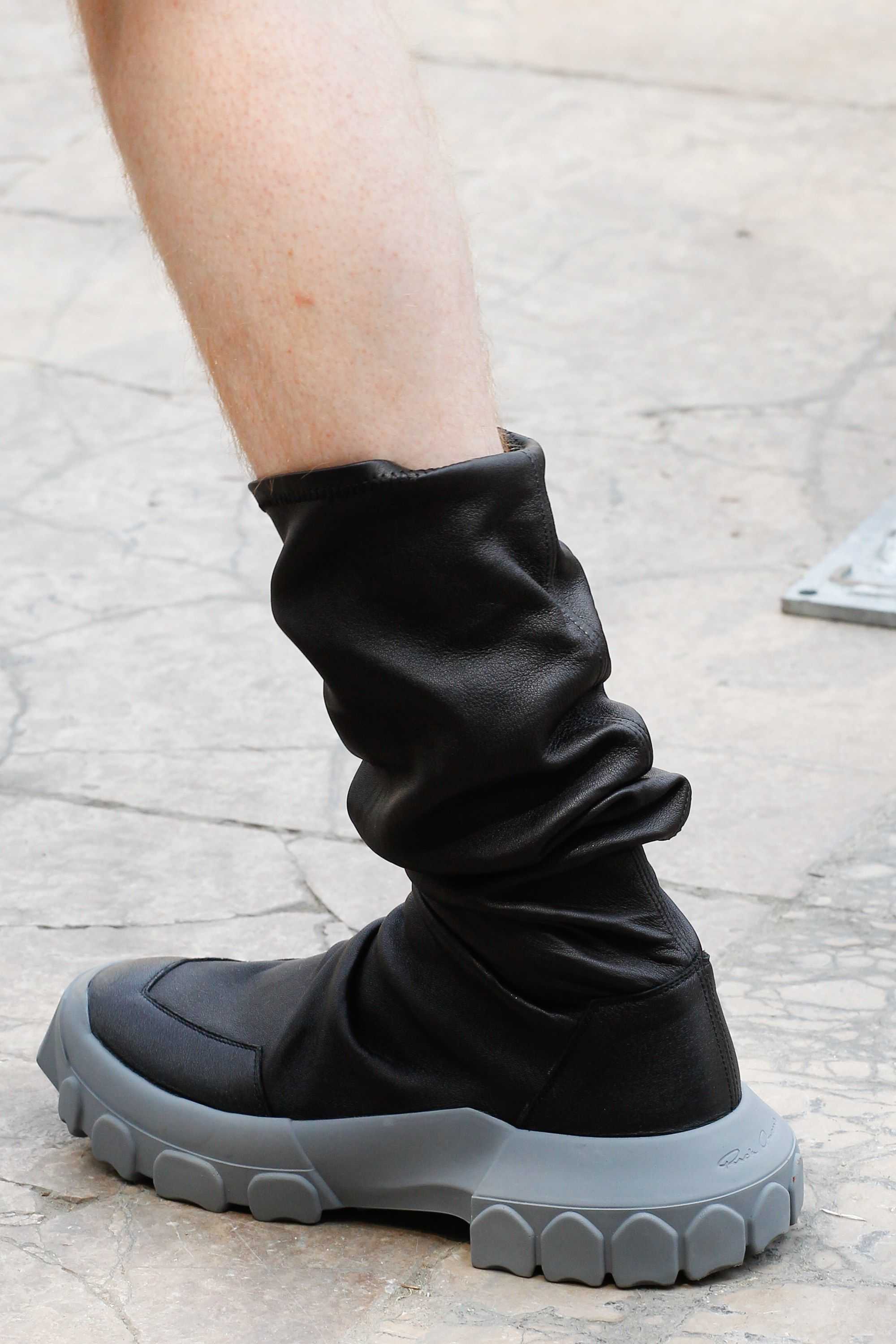Leather SQUARE TOE THIGH HIGH STRETCH BALLERINAS Boots Spring/summerRick Owens TEopYU
