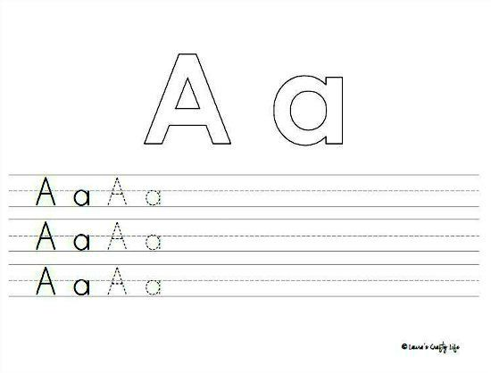 Common Worksheets » Letter A Writing Practice - Preschool and ...