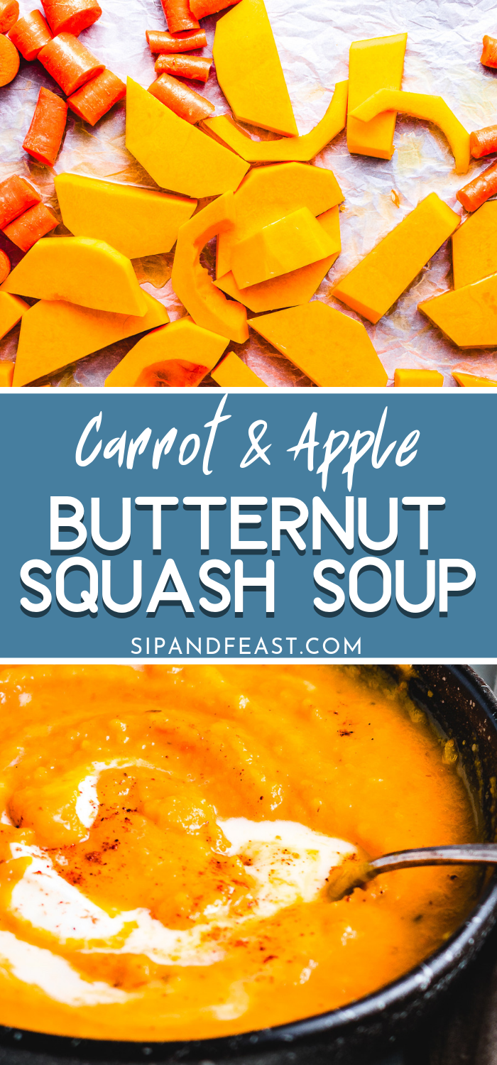 Vegan Butternut Squash Soup With Maple Syrup #butternutsquashsoup