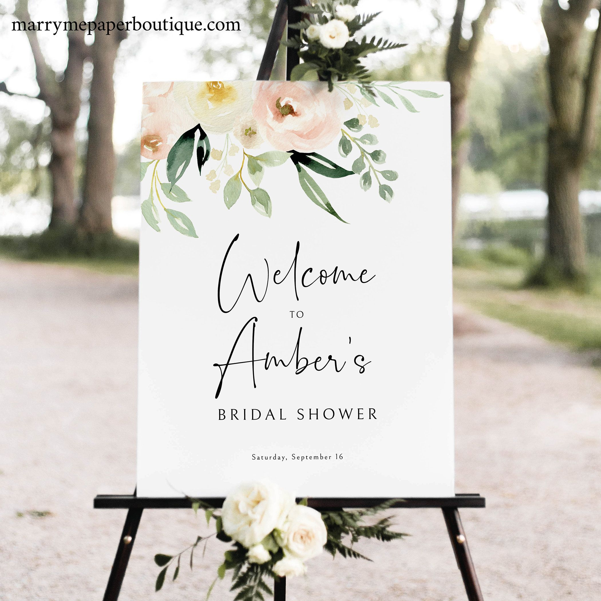 Bridal Shower Welcome Sign Template Printable Sign Templett Etsy Bridal Shower Welcome Sign Sign Templates Wedding Welcome Signs Bridal shower welcome sign template