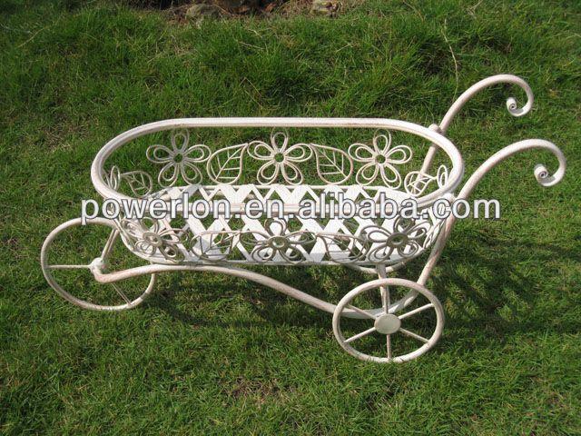 Resultado de imagen de carretillas muebles de hierro para for Muebles de jardin de hierro forjado