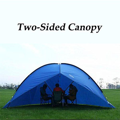 Outdoor Large Twosided Canopy Awning Tent Beach Sun Shade Rainproof UVproof For C&ing Hiking **  sc 1 st  Pinterest & Outdoor Large Twosided Canopy Awning Tent Beach Sun Shade ...