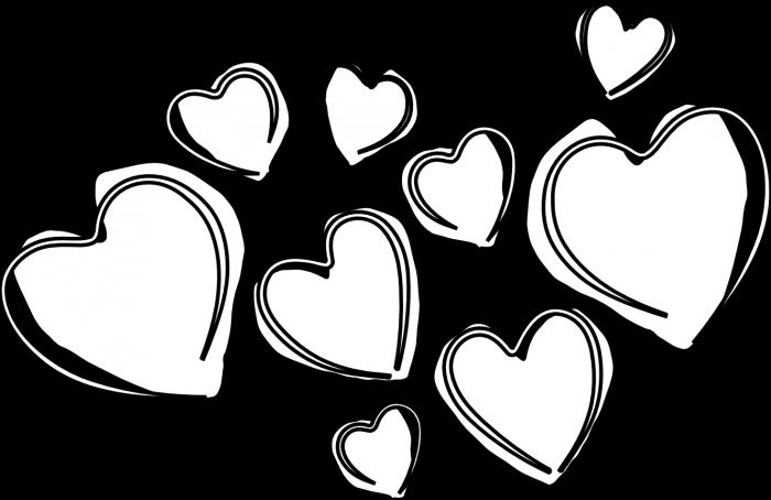 Black Hearts Png Clip Art Black Heart Png