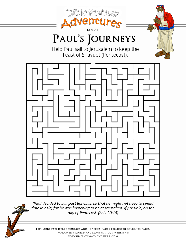 Bible Crossword Puzzle Pauls Journeys