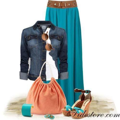 Falda turquesa