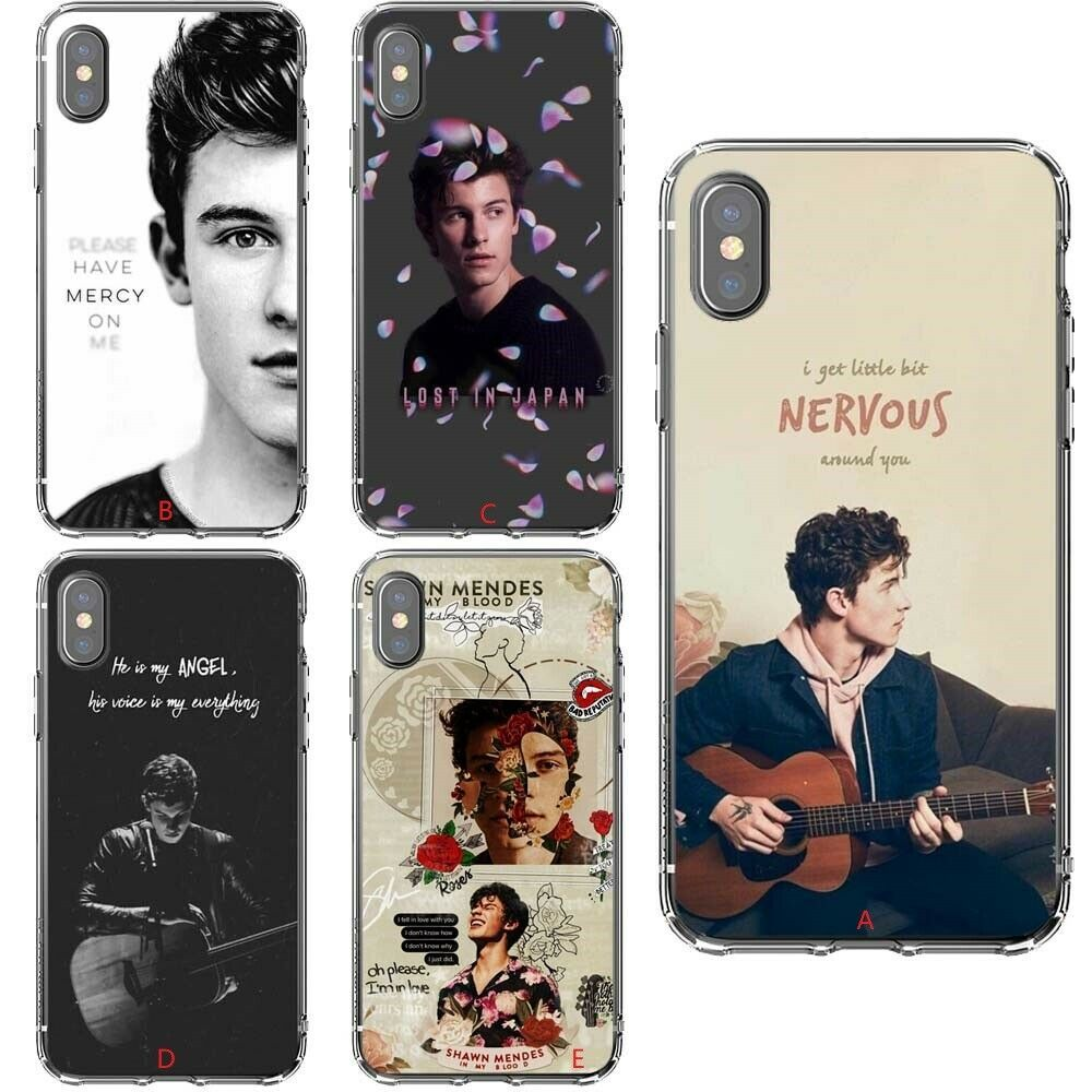 Singer Shawn Mendes Model Silicone Phone Case For iPhone Xs Max X ...