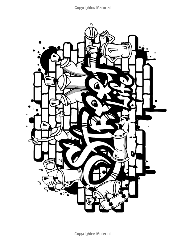 Amazon Com Graffiti Coloring Book For Adults 9781542335935