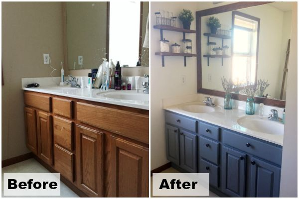 $100 Room Makeover Master Bathroom Reveal Master bathrooms