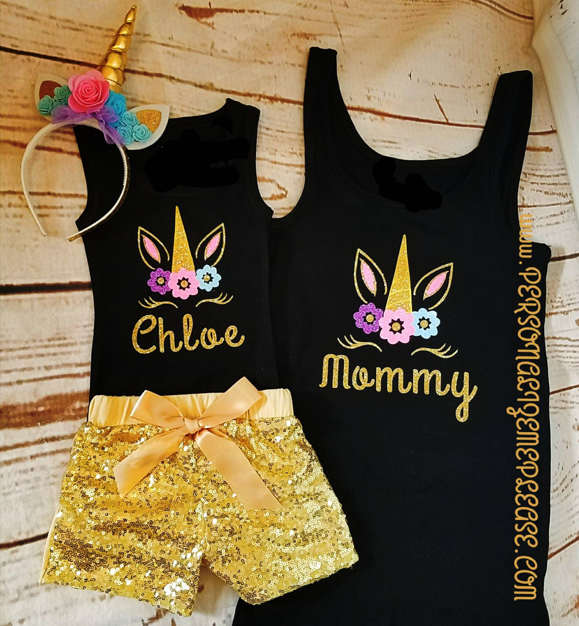 02d94f781c Mommy Unicorn Tank Top Unicorn Birthday Outfit Mom shirt