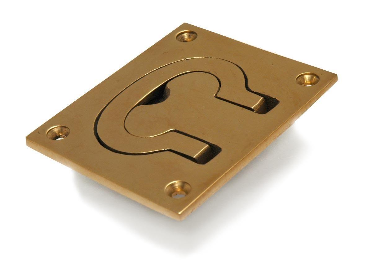 Boat Hatch Flush Ring Pull Solid Cast Brass Trap Door