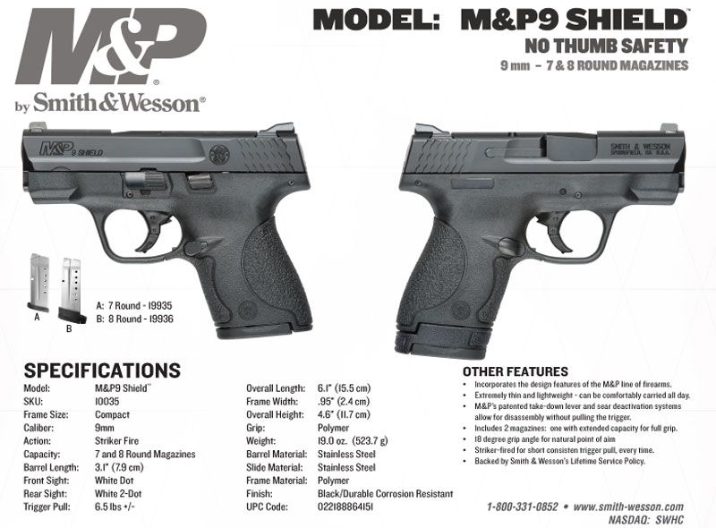 I want, I want!!! M&P Shield NO THUMB SAFETY Discussion Thread - MP ...