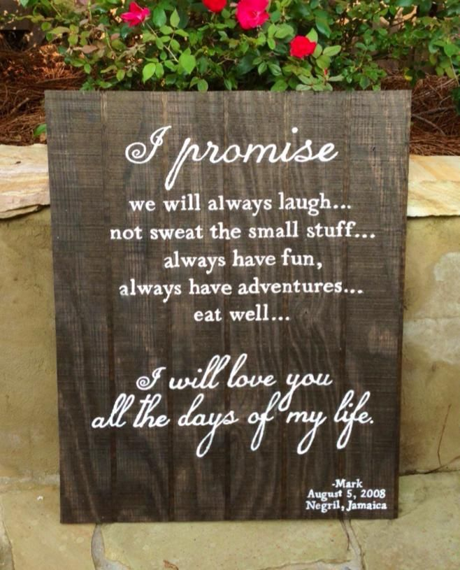 Wedding Vows Gifts Ideas: Sweet Wedding Vows Custom Made For Anniversary Gift. Fifth