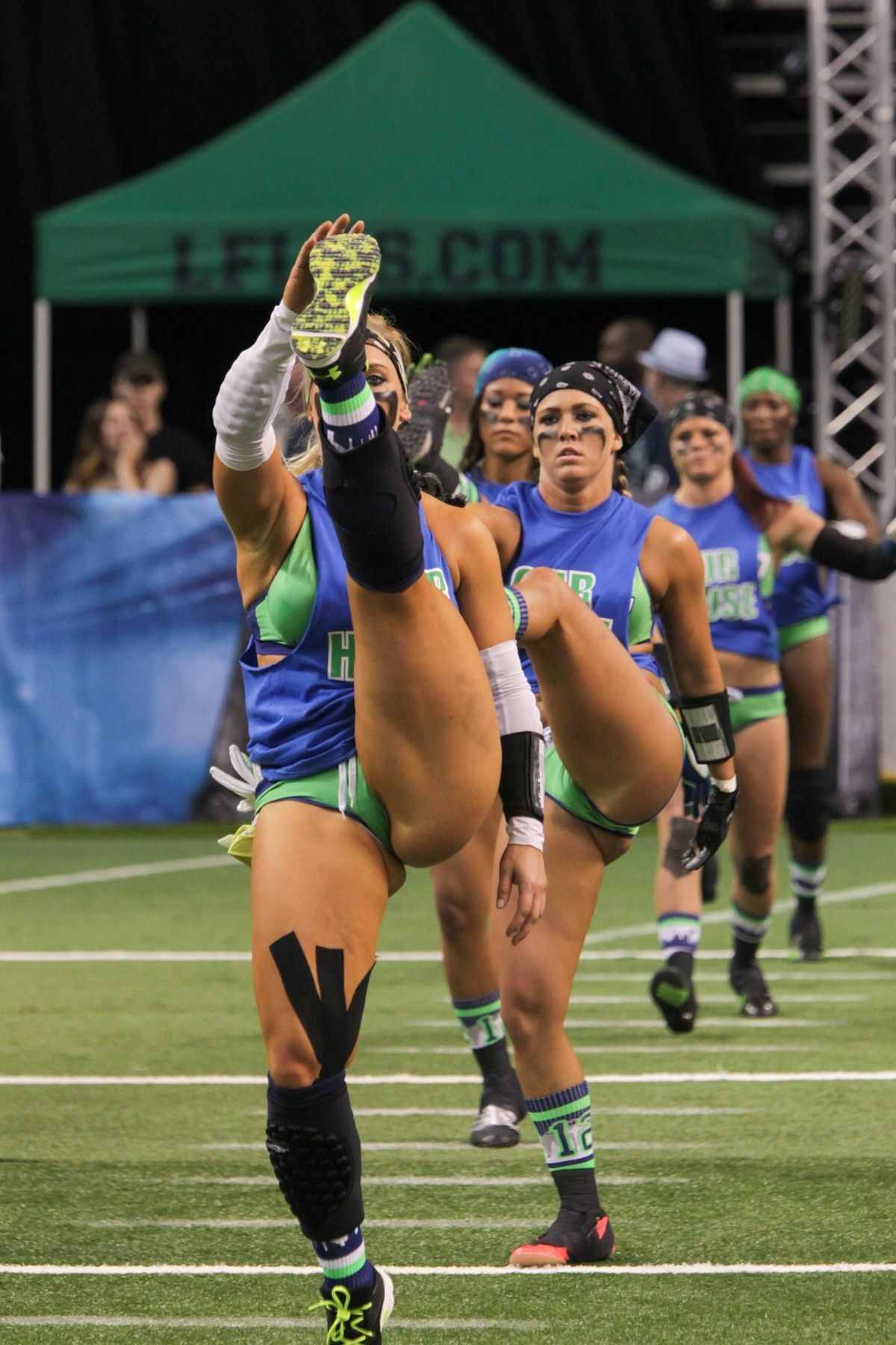 from Royal naked female american football players