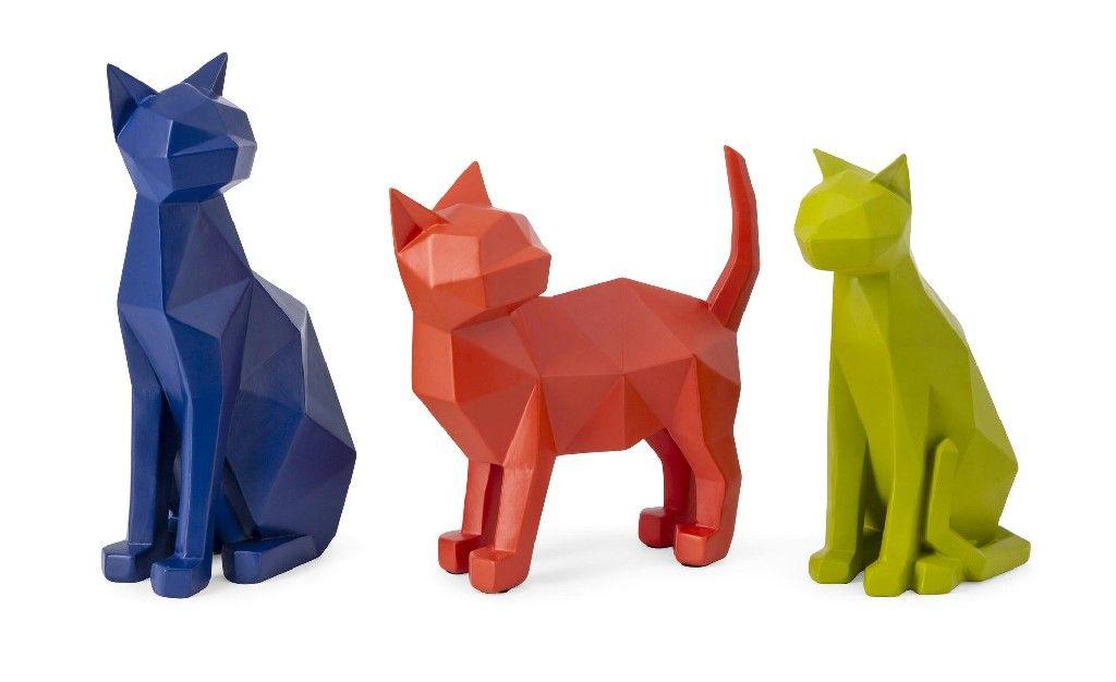 Photo of Origami Cat Statuaries (Set of 3) – IMAX 23408-3