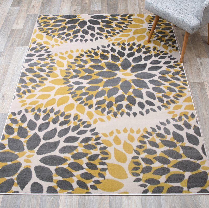 Beaudette Floral Yellow Gray Area Rug Area Rugs Grey Area Rug