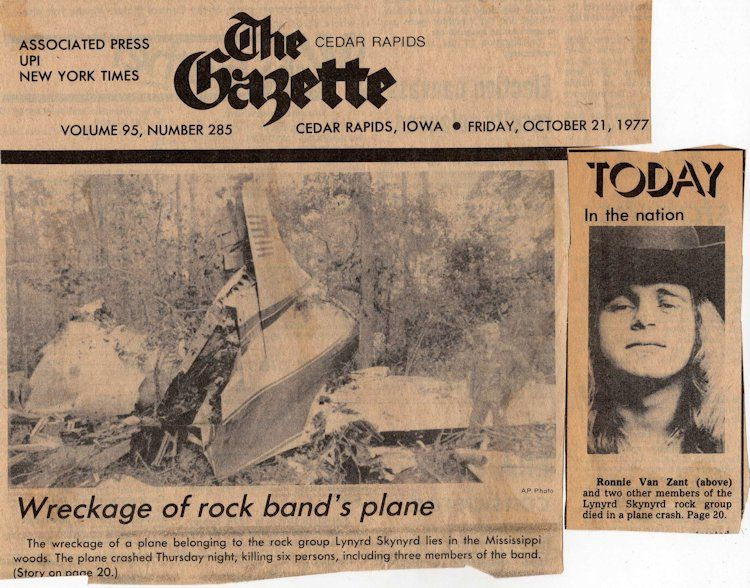 Фильм The True Story of the Lynyrd Skynyrd Plane Crash