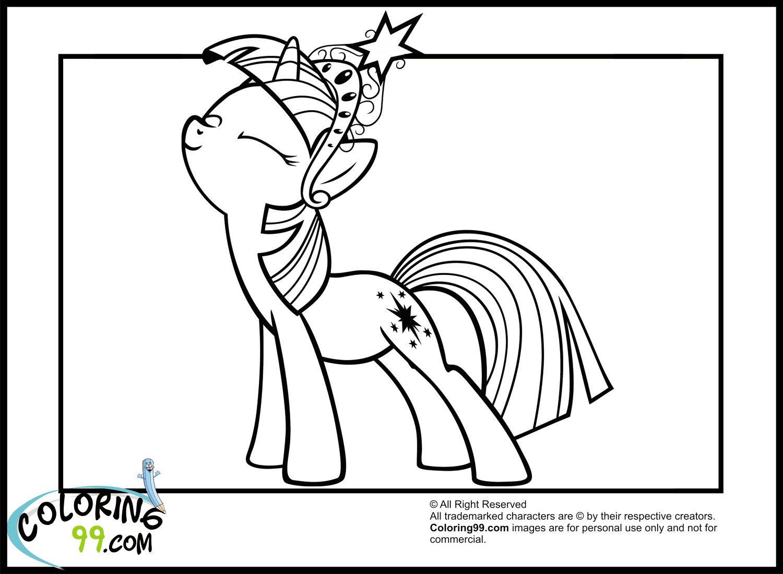 Little Pony Twilight Sparkle Coloring Pages - Colorine.net | #7489 ...