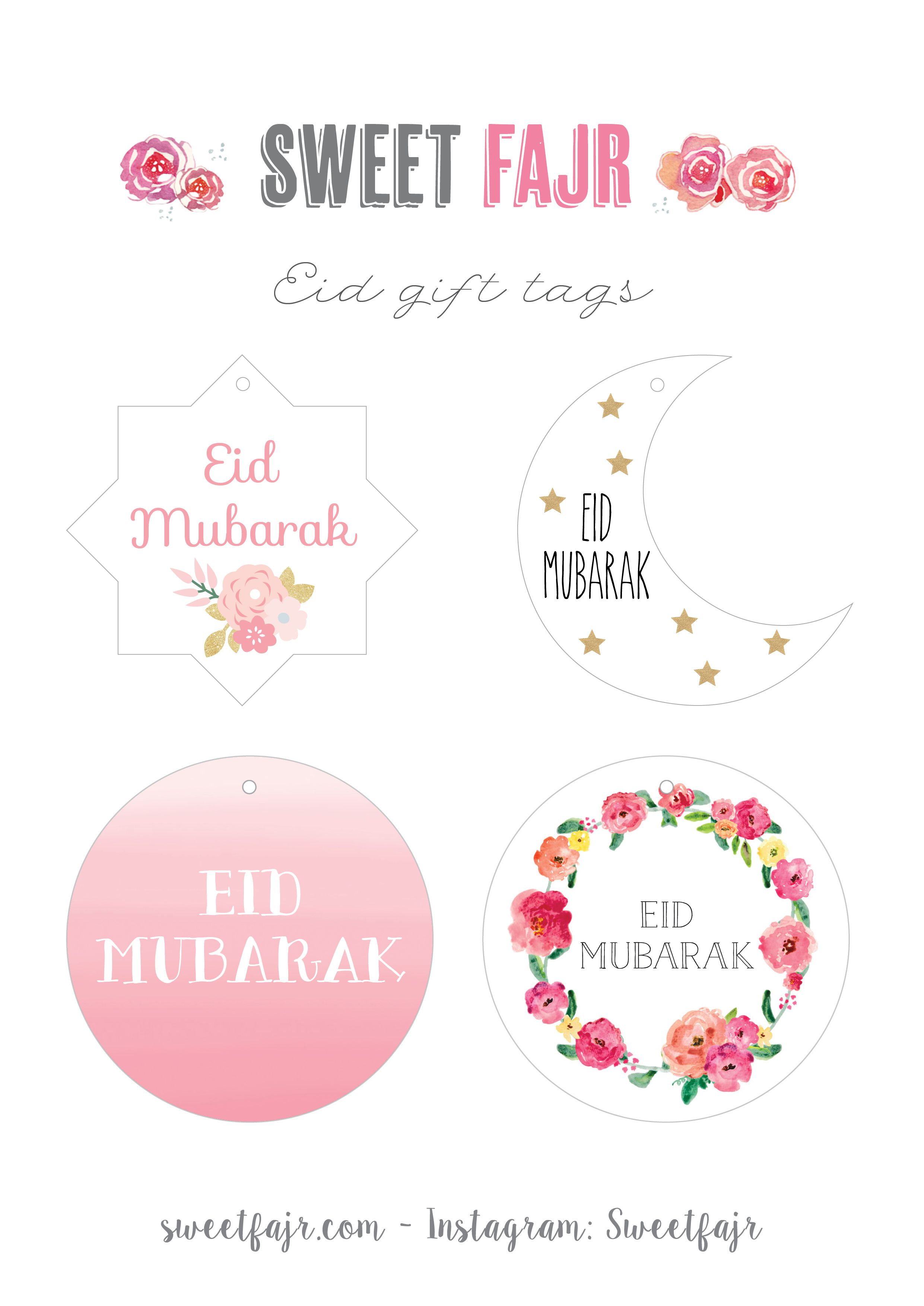 Preparing Some Crafts Gifts Or Cakes For Eid Free Printable Eid Gift Tags And Cake Toppers Fetes Islamiques Decorations Eid Eid Moubarak
