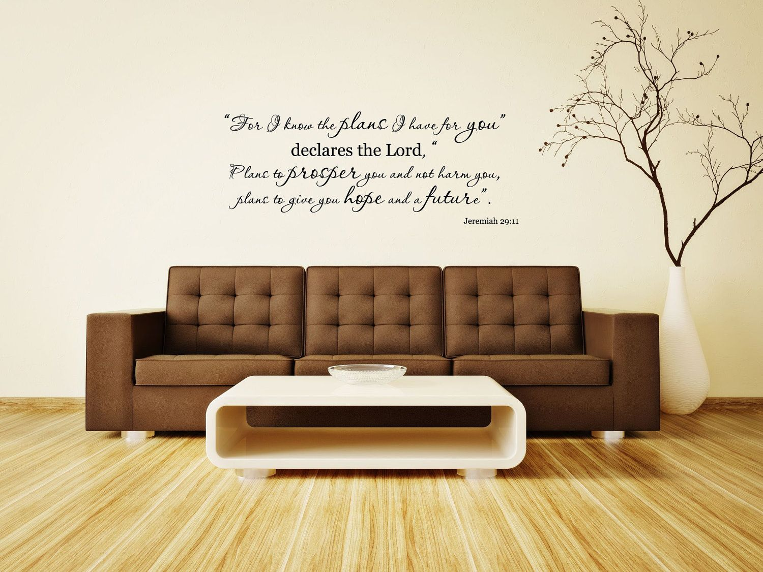 Jeremiah Bible Verse Vinyl Wall DecalFor I Know The Plans - Wall decals bible verses