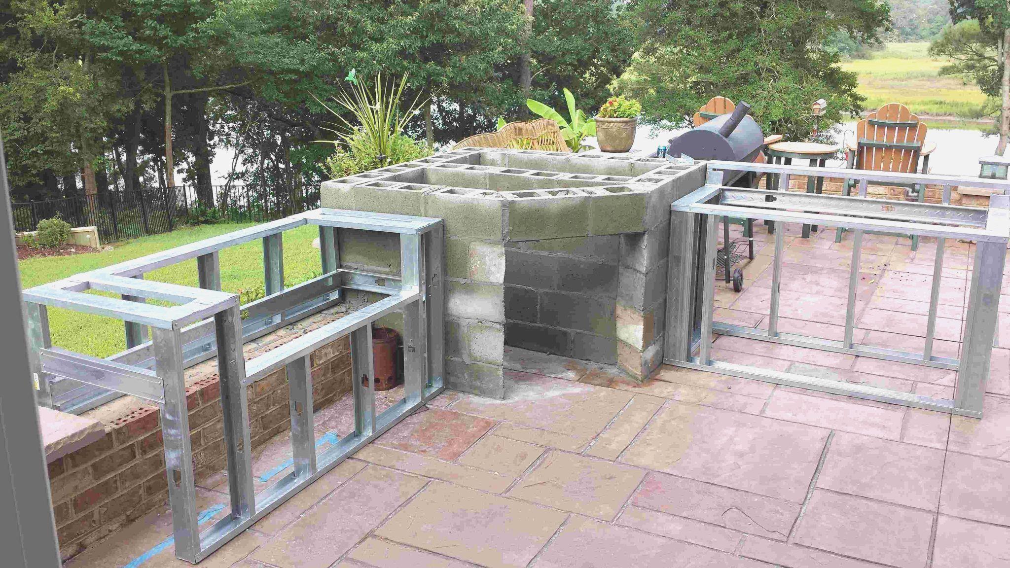 outdoor kitchen island frame kit - 6 ft outdoor kitchen island frame