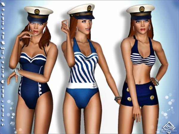 Nautical Swimsuit Collection by Devirose - Sims 3 Downloads