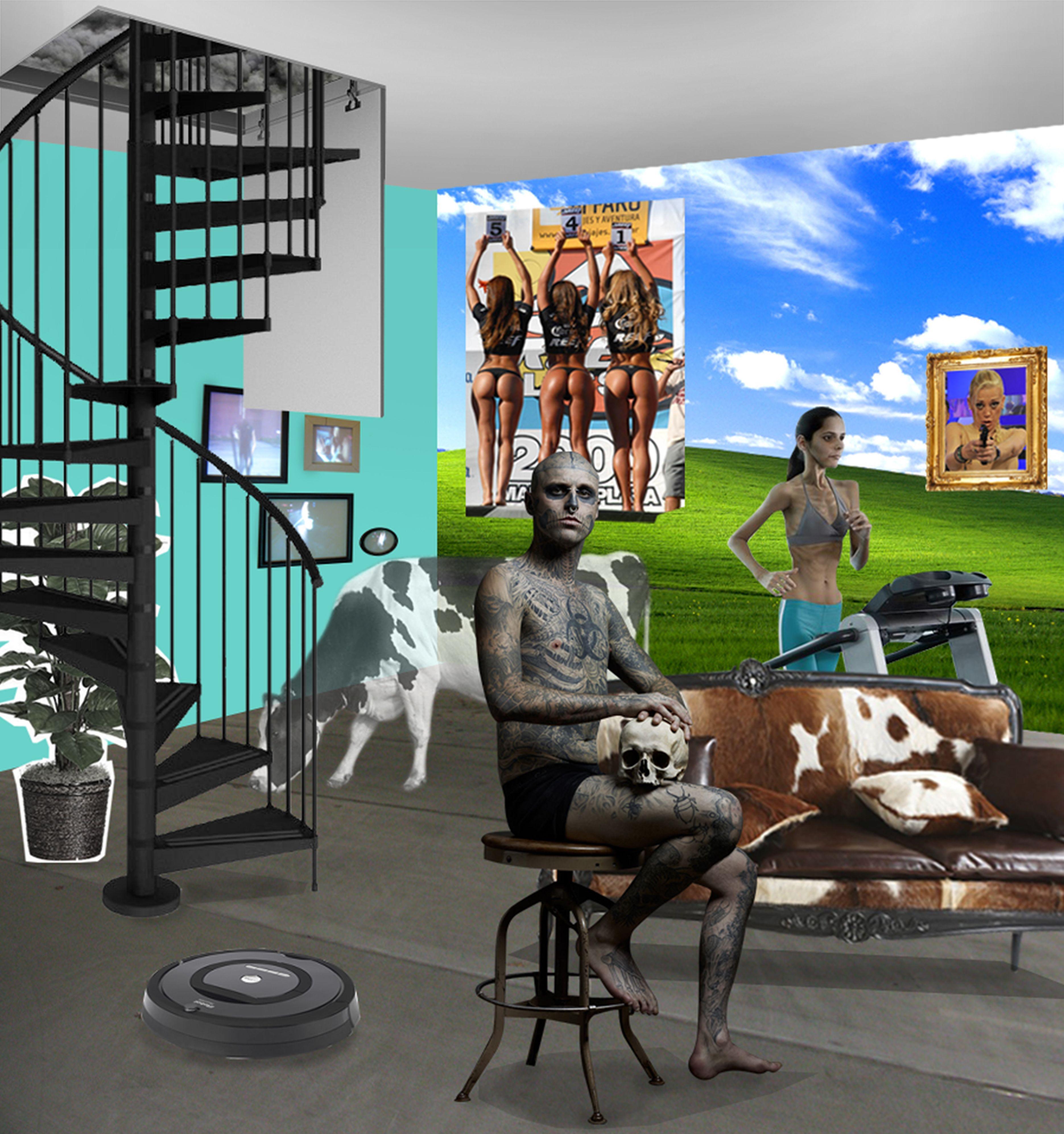 reinterpretaci n de la obra de richard hamilton 39 just what is it that makes today 39 s homes so. Black Bedroom Furniture Sets. Home Design Ideas
