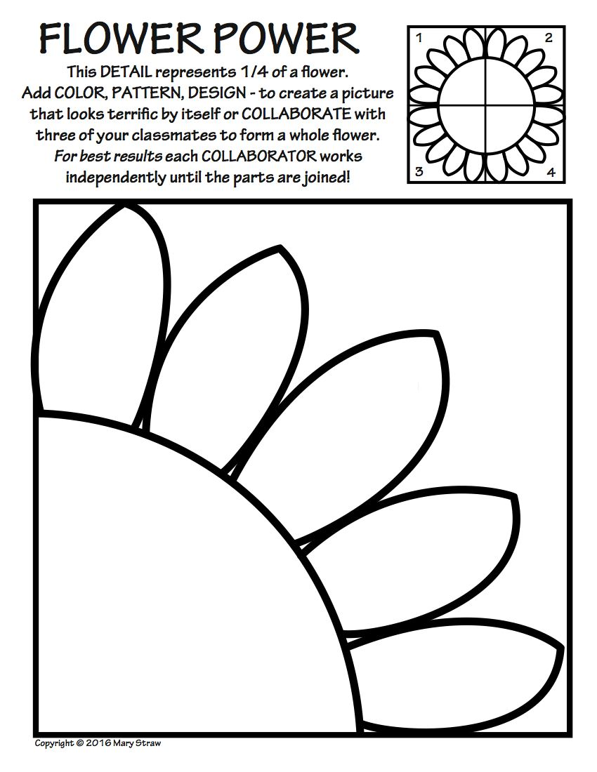 Collaborative Classroom Activities ~ Art enrichment everyday may activity coloring pages