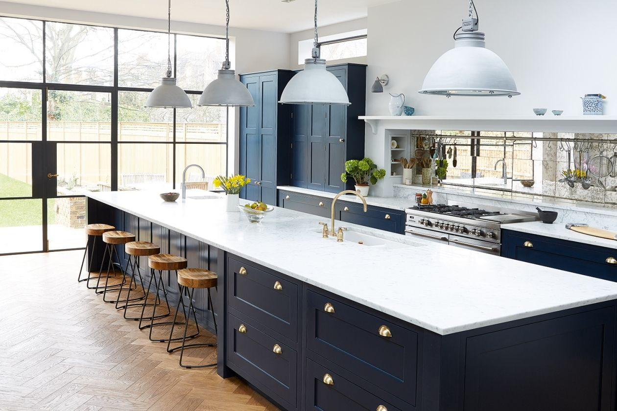 Real Home A Blue And Bright Victorian Kitchen Extension