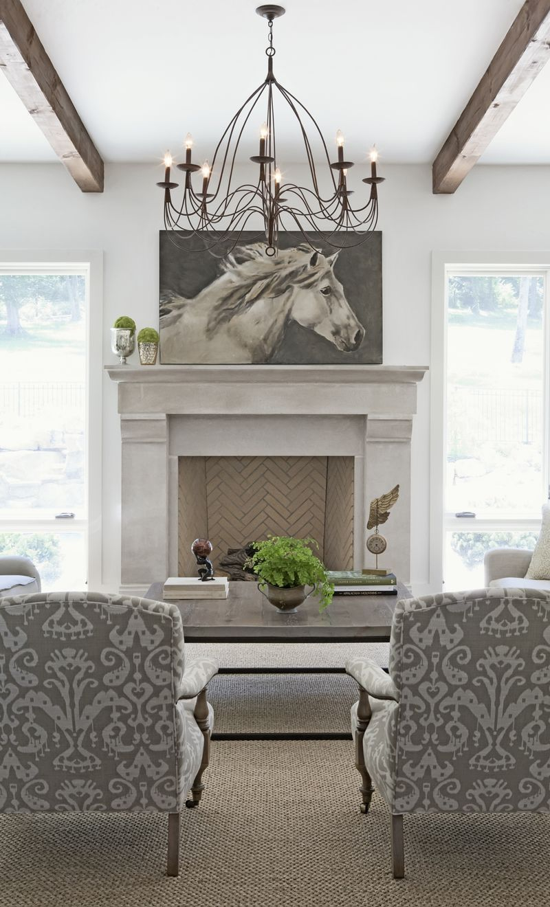 Grey And White Living Room Love This Minus The Horse Picture