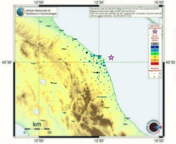 Nuova debole scossa di terremoto stamani alle 9:33 al largo della costa marchigiana: il sisma, di magnitudo 2.4,   http://tuttacronaca.wordpress.com/2013/08/26/alle-9-33-il-sisma-colpisce-al-largo-della-costa-marchigiana/