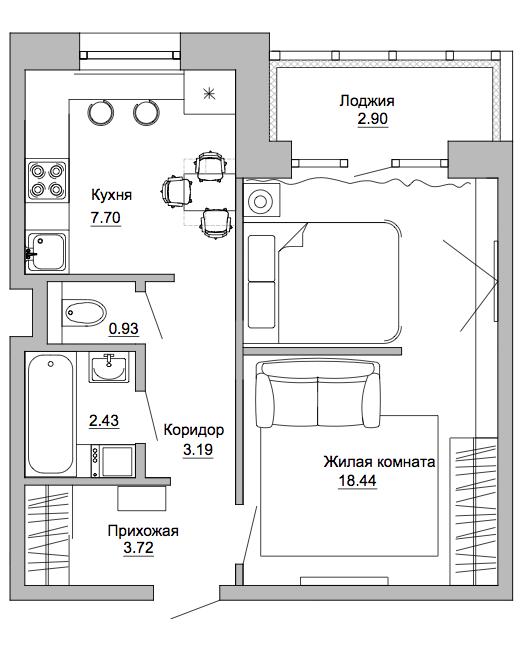 Как обустроить в однушке спальню и гостиную: реальный ...