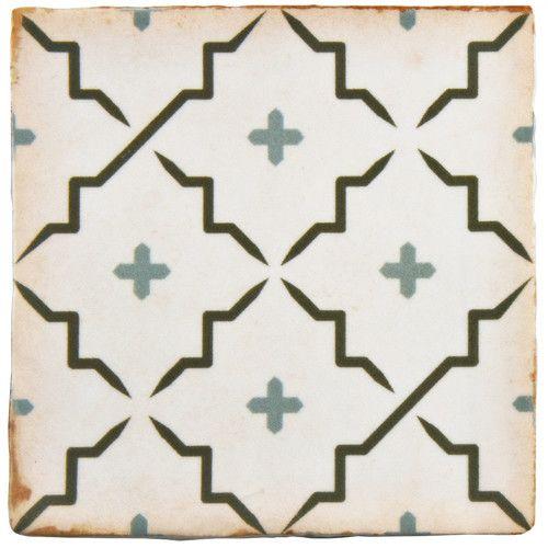 "$5.50 sqft Found it at Wayfair Supply - Arquivo 4.88"" x 4.88"" Ceramic Field Tile in Lattice"