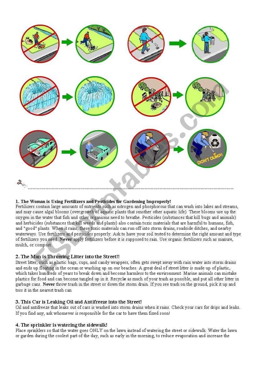 Pollution Awareness Worksheet Awareness Pollution Vocabulary Worksheets [ 1169 x 821 Pixel ]