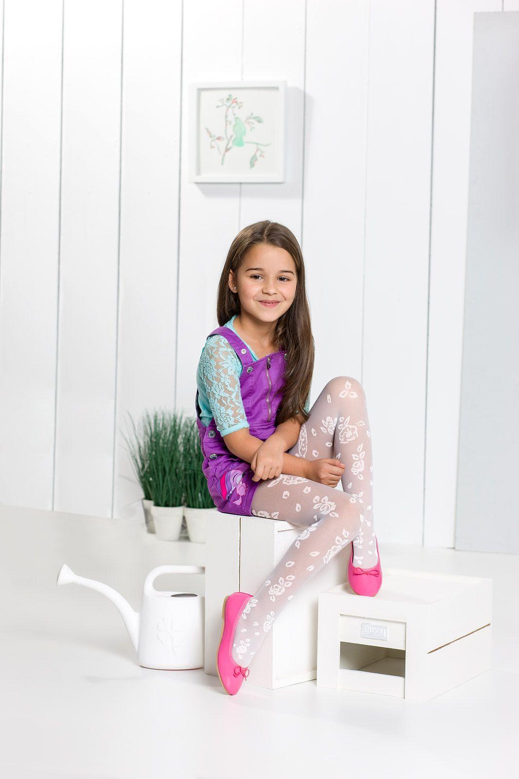 Mari 02 tights kids girl patterned flowers spring summer spring summer collection for - Monalisa moda infantil ...