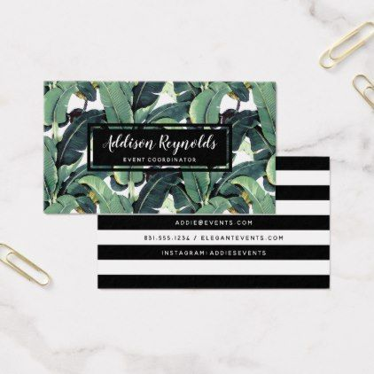 Banana leaves palm tree tropical business card event gifts diy cyo banana leaves palm tree tropical business card event gifts diy cyo events colourmoves