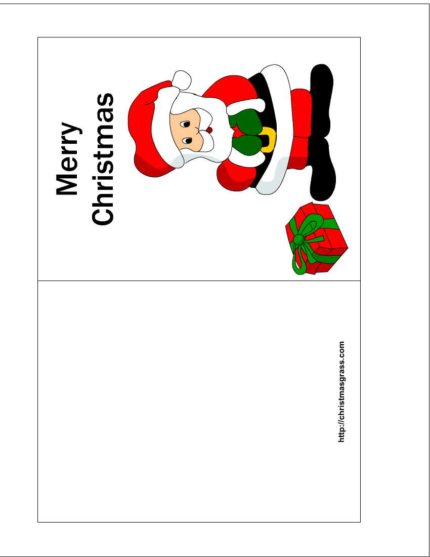 free printable christmas cards free printable christmas card with charming santa print this. Black Bedroom Furniture Sets. Home Design Ideas