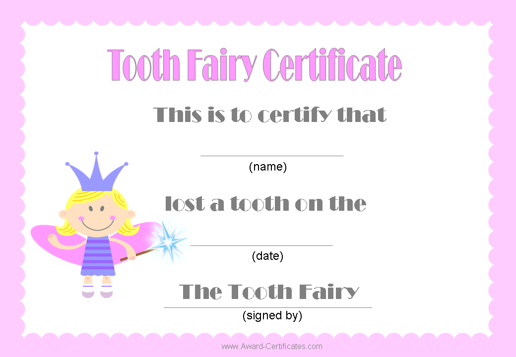 Tooth Fairy Certificate Pink To Cute 3 Tooth Fairy Certificate Tooth Fairy Tooth Fairy Letter