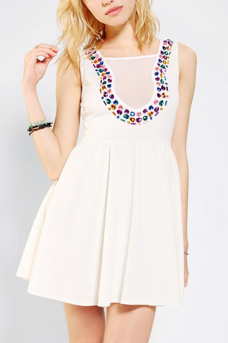 Reverse+Bejeweled+Skater+Dress