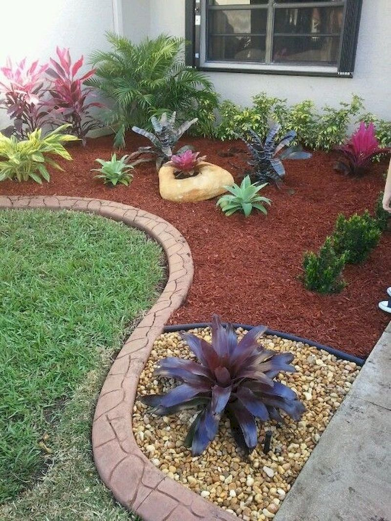 48 Simple And Beautiful Front Yard Landscaping Ideas On A Budget Homeridian Com Front Garden Landscape Backyard Landscaping Designs Small Front Yard Landscaping