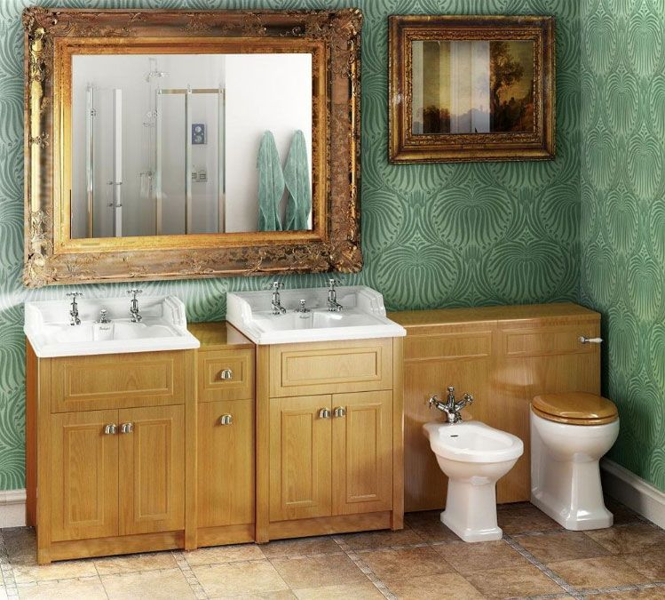 For a hunting lodge feel, go for a traditional vanity unit in beech ...