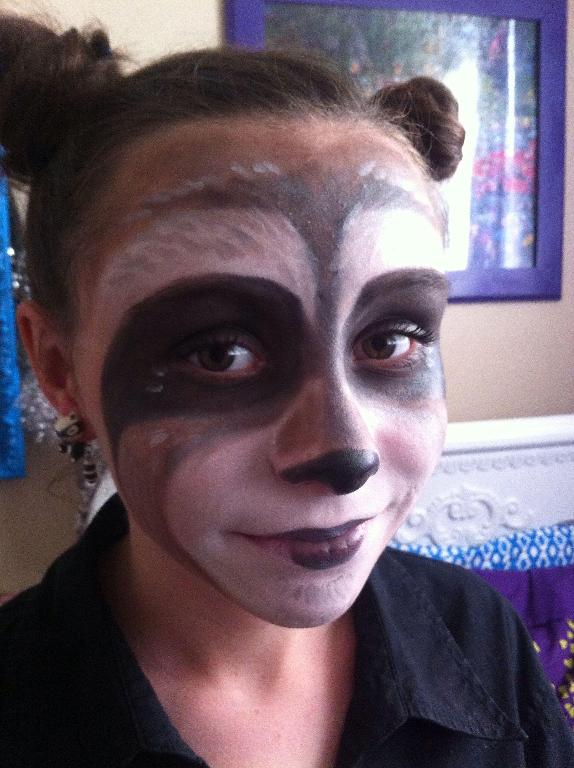 Raccoon Halloween Makeup Halloweenautumn Pinterest Raccoon