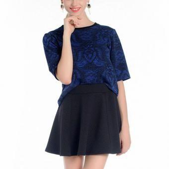 falda corto casual de sólido color 2016 nuevo para primavera Otoño y invierno-negro