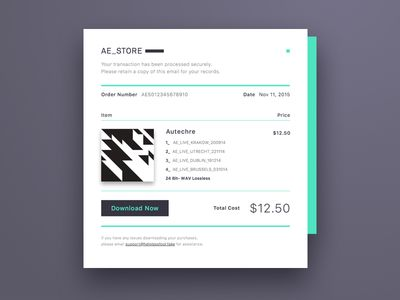 Email Receipt - how to design a receipt