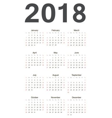 yearly calendar 2018 weekly calendar template News to Go 3