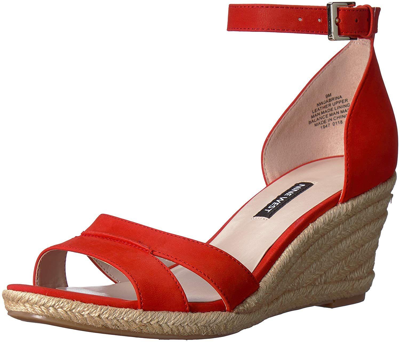 3b89716b09e Nine West Women s JABRINA Nubuck Wedge Sandal