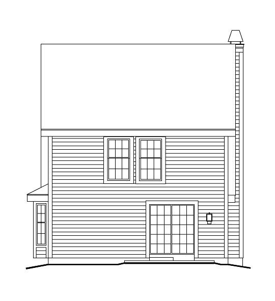 Cabin Cape Cod Cottage Country House Plan 86973 Rear Elevation